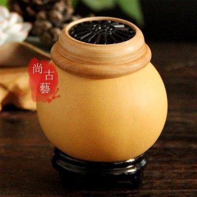 尚古藝*精品蟈蟈罐 蟈蟈葫蘆籠 蛐蛐筒 帶口蓋蒙心本長文玩葫蘆 鳴蟲叫罐蟲具