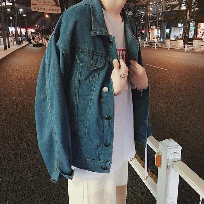 男裝秋季牛仔夾克寬鬆新款休閒外套男士潮流學生oversize衣服韓版