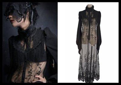 *mini & PUNK LOLO*歐洲中古世紀-西臘神話愛吉娜女神蕾絲雕花縷空透明長版罩衫(Y-360)~華麗登場!