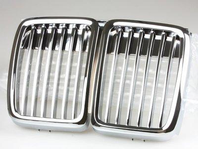 BMW 寶馬3系列 E30 1983-1991年 適用 ABS水箱罩 鼻頭水箱護罩中網水柵 - 鍍鉻 GR-02124