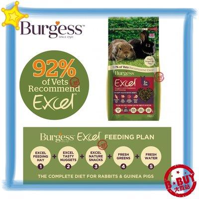 伯爵兔 伯爵士 Burgess 機能飼料 英國 添加奧勒岡葉 老兔 蔓越莓&人蔘 2kg BBUY
