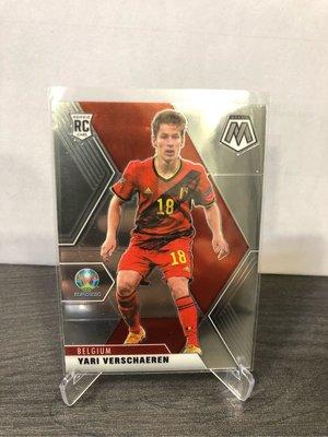 2021 Yari Verschaeren panini base rc mosaic 比利時🇧🇪前鋒 prizm uefa 足球 歐洲國家盃 c羅