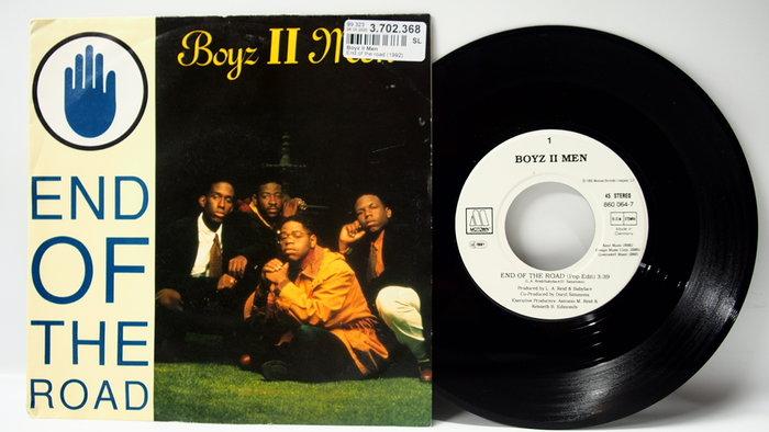 45 rpm 7吋單曲Boyz II Men【End of the Road】1992德國版 Motown Record