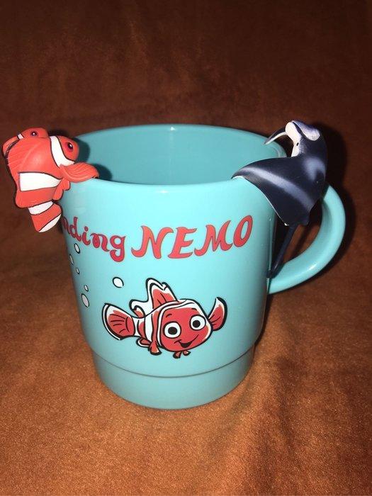 Disney 海底總動員漱口杯+杯緣子二個 東京園區購回 真品