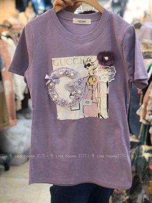 【莉莎小屋】正韓 春款新品?韓國連線代購-紫G女郎上衣(現貨)??E200225