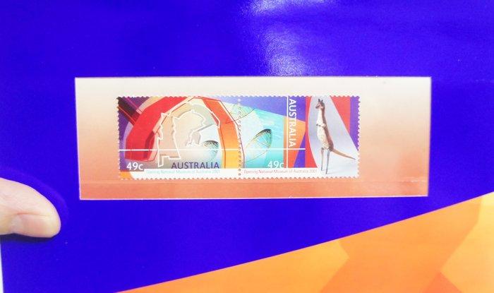 (全新) 2001年-澳洲-國家博物館開幕紀念-套票護卡(郵票)