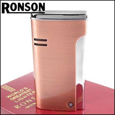 ☆哈洛德小舖☆全新【RONSON】RONJET系列-瓦斯噴射打火機-紅銅款 NO.R29-0007