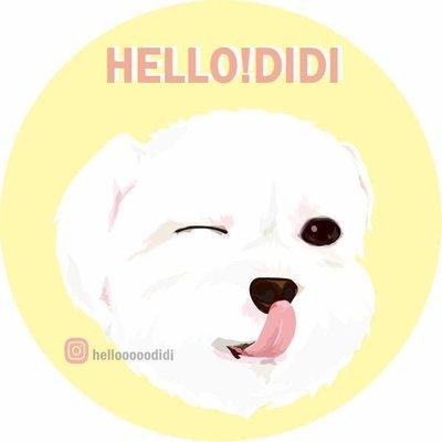 「HELLO DIDI」客製化寵物肖像 代客畫圖 貼紙 禮物 瑪爾濟斯 獨一無二