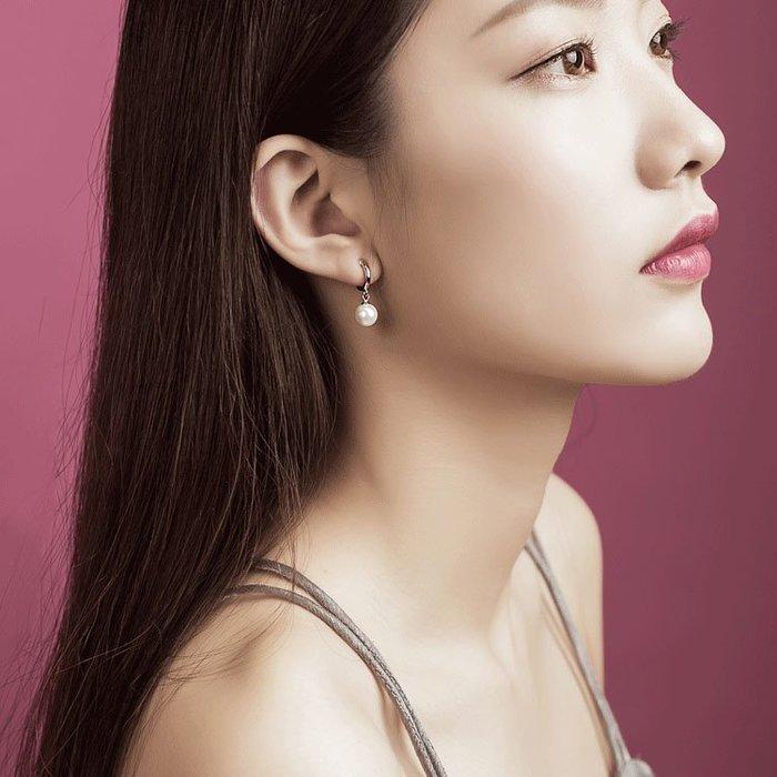 耳夾925純銀無痛螺旋耳夾珍珠耳夾無耳洞法式質感耳飾無洞耳環