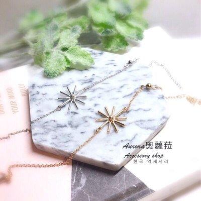 韓國雪花蝴蝶結手鍊《奧蘿菈Aurora韓國飾品》附不織布收納袋拭銀布