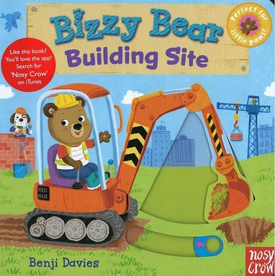 *小貝比的家*BIZZY BEAR: BUILDING SITE /硬頁書/0~2歲/拉拉書