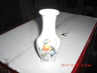 早期  手工藝術陶瓷鳥花瓶