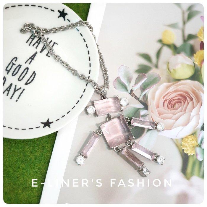 【E-L日裳森活】粉紅機器人玻璃水晶吊飾 包包吊飾 飾品 女性飾品 情人節禮