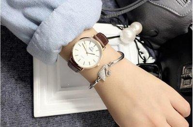 YEAHSHOP 韓版女錶 機械石英錶 情侶時尚潮流 超薄手錶Y185