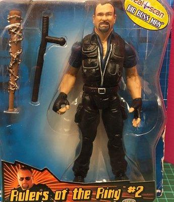 C-15 櫃 : 2000 美職摔角 SMACK DOWN WWF 大老闆 BIG BOSS TRAYLOR 特雷勒