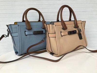 DanDan代購 美國正品 COACH 34417 高檔皮革女包 真皮兩用手提包 高檔女包 附購買證明 買即送禮 免運