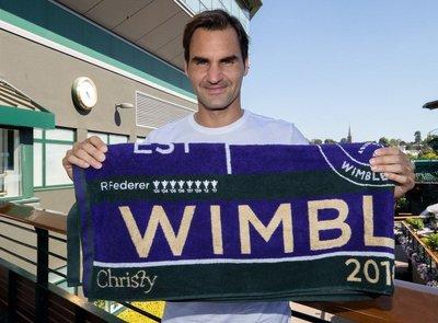 限量 Wimbledon 溫布頓 Federer 費德勒 八屆冠軍 年份 tennis 網球毛巾 非Nike Wilson 90 97