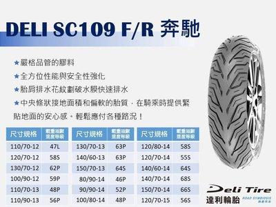 DELI TIRE 達利 輪胎 90/90-10 多項國際安全認證 免運1000元 馬克車業