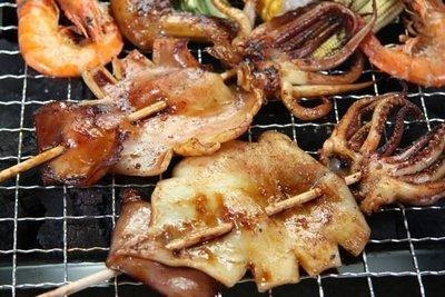 【中秋烤肉食材】魷魚串5隻/約625g±5%