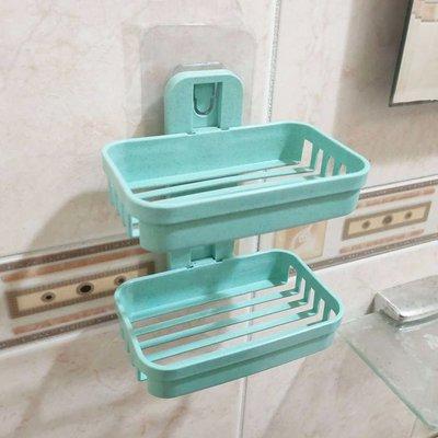 【贈品禮品】A4741 雙層肥皂架/無痕肥皂架香皂架/免打孔掛式瀝水盤/浴室收納架/贈品禮品