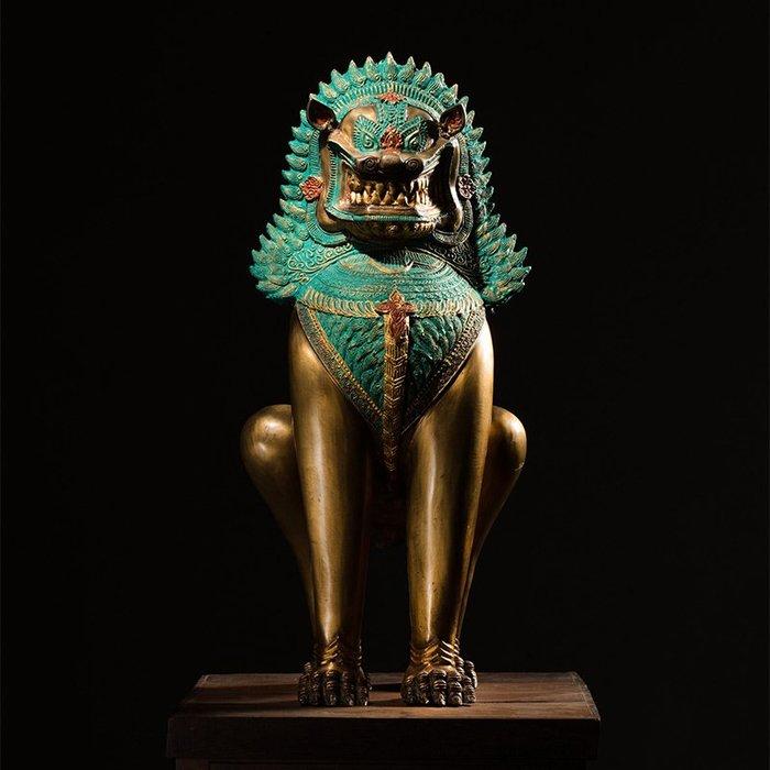 裝飾擺件 裝飾品 泰國鎮宅純銅獅子擺件客廳家居風水全銅裝飾工藝品創意貔貅擺設