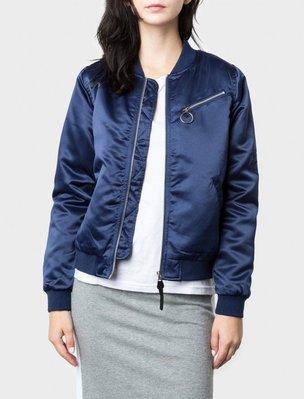 【HOMIEZ】2016 STUSSY JODIE BOMBER JACKET  女款 外套 深藍色 XS-M