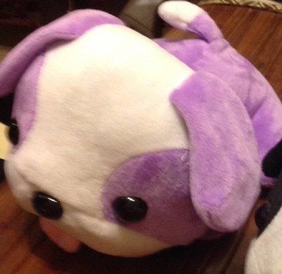 全新可愛紫色趴趴狗