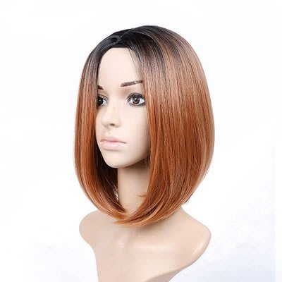 短 假髮 整頂假髮-鮑伯頭中分漸層短直髮女假髮6色73rr21[獨家進口][米蘭精品]