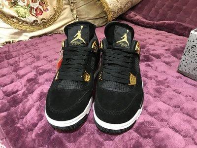 Air Jordan 4 Royalty AJ4 黑金 麂皮 籃球 男女 308497-032休閒慢跑鞋潮