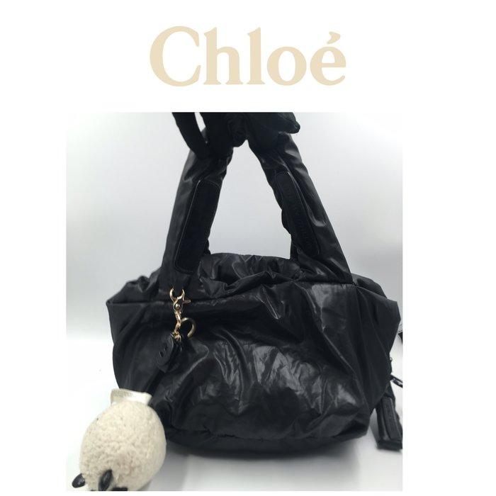 【皮老闆二店】樂457 二手真品 法國精品 Chloe 鎖頭 空氣包  M