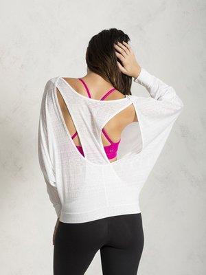 TuTu瑜珈精品╭☆Pure【Easy Breezy 長袖罩衫上衣 - P240006 (無胸墊)】