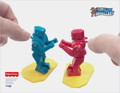 Artlife @ Fisher Price SMALLEST ROBOT MINI 美國費雪 迷你玩具 擂台格鬥機器人
