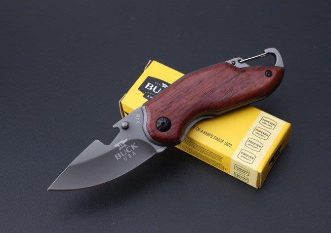 全新戶外折疊創意精品迷你巴克X48防身隨身小直多功能鑰匙扣刀具小刀K12