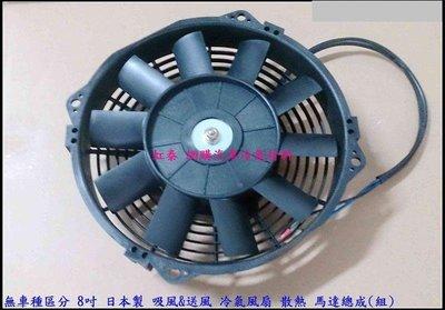促銷商品 8 9 10 12吋 12V 正/反轉共用 日本製 散熱風扇 薄型 馬達 FREECA 威力 MATIZ
