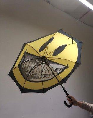 ron english特展限定 Grin笑臉齙牙經典logo雨傘遮陽傘限量版潮牌