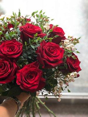 進口紅玫瑰鮮花束,10朵[原生態工作室...