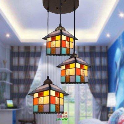 【美學】地中海餐廳燈房子模型浪漫溫馨美式客廳書房陽臺吸頂燈MX_1752