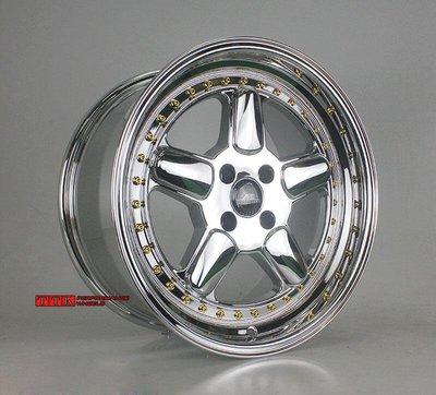 【員林 小茵 輪胎舘】BMW寶馬E30專用類AC前後配17吋深唇大凹鋁圈4孔100電鍍8.5+10J 白電鍍