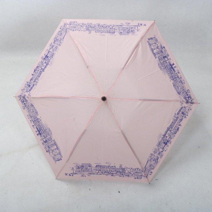 奇奇店-歐洲小鎮藝術繪畫超輕布折疊女士晴雨傘#加固 #小清新 #晴雨兩用