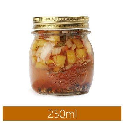 【無敵餐具】義大利FIDO玻璃四季果醬罐250cc(P35775)菲多密封罐收納罐玻璃扣環密封罐零食罐【L0011】