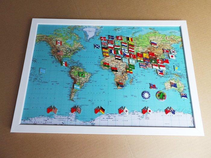 【國旗徽章達人】世界地圖國旗徽章組合/胸章/胸針/別針/勳章/獎章