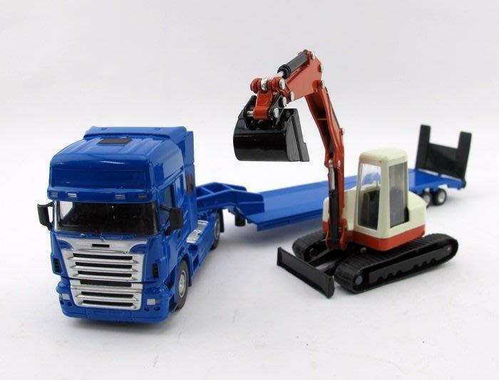 【阿LIN】0251AB 5012-25 1:50 機械運輸車 1:50 Scale HY TRUCK 運輸車 挖土機