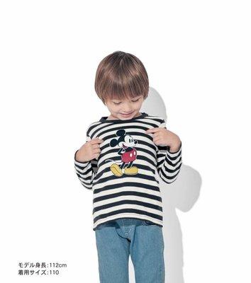Co媽日本代購 預購 日本 正版 迪士尼 小朋友 純綿長袖T恤 90-140公分 純綿 T恤