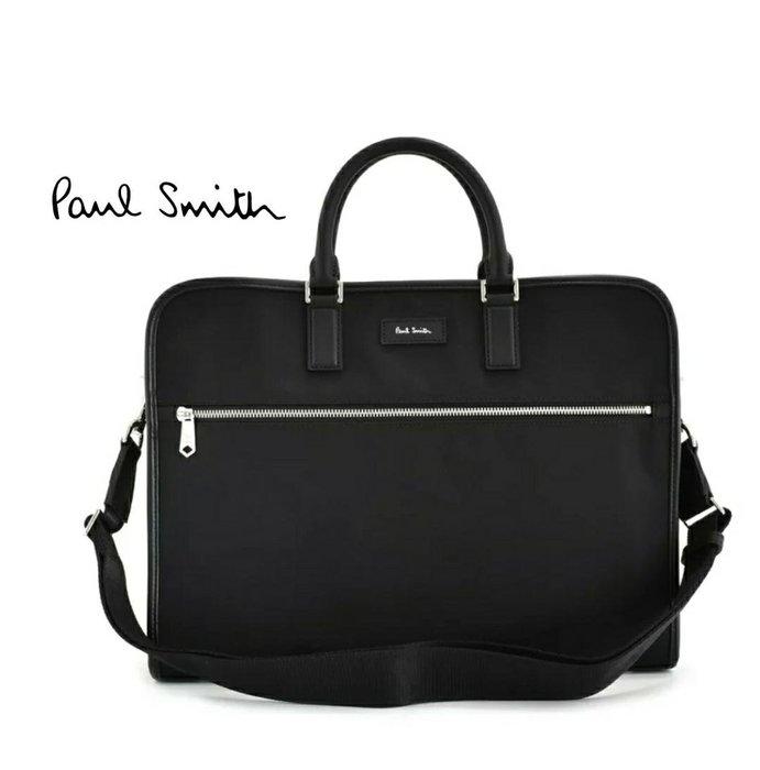 Paul Smith  ( 黑色 )  帆布尼龍×真皮 手提包 後背包 肩背包 公事包 中性款|100%全新正品|特價!
