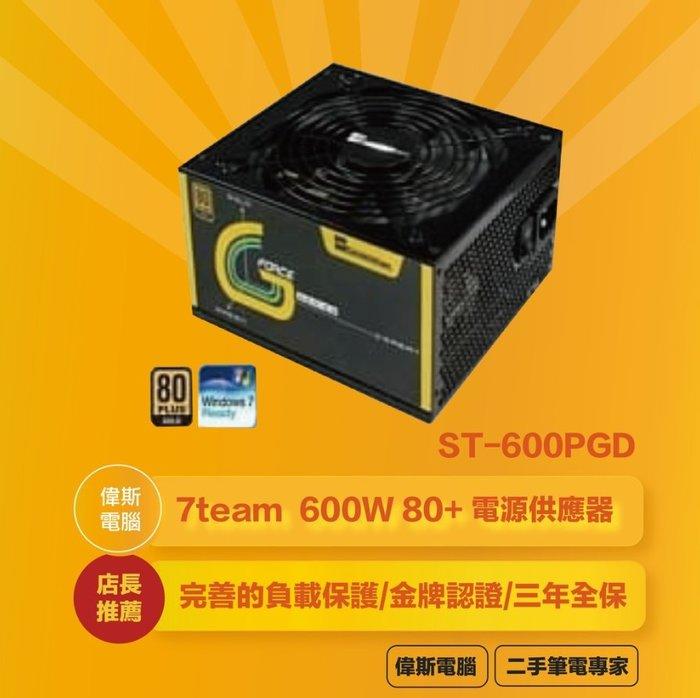 ☆偉斯電腦☆Seventeam 七盟 600W 80+ 金牌 模組化 電源供應器(ST-600PGD)