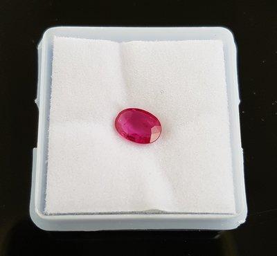 天然紅寶石  緬甸產 ,天然紅寶石 0.7 克拉 附鑑定證書