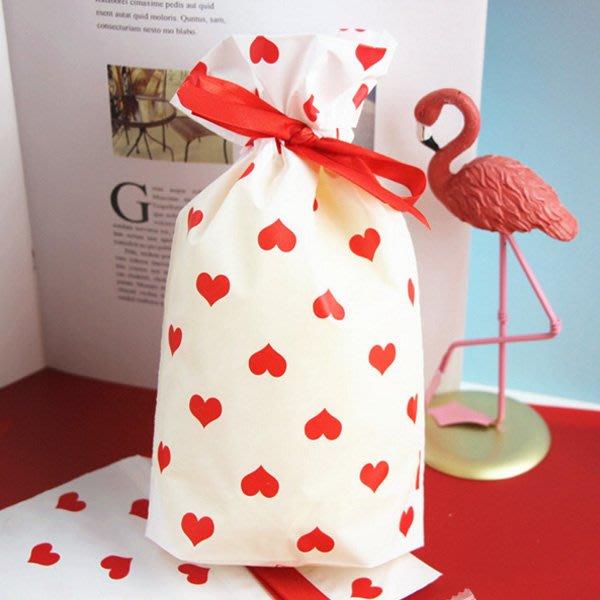 滿滿的愛心拉繩糖果袋 禮物袋 包裝袋【JI2338】《Jami Honey》