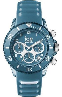 [永達利鐘錶 ] ICE watch 霧面藍計時膠帶錶AQ.CH.BST.U.S.15原廠公司保固24個月