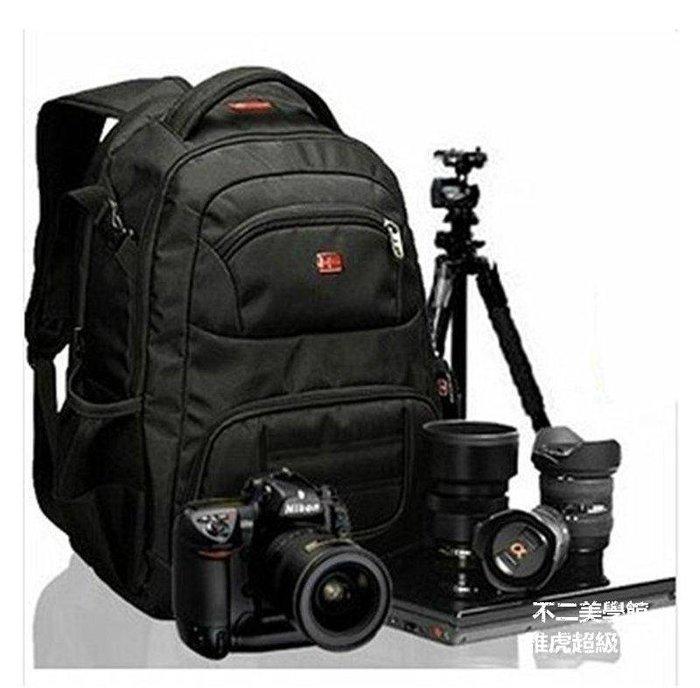 【格倫雅】^高密度牛津布面料瑞士軍刀單反相機包雙肩包鏡頭背包專業攝影包男26363[D