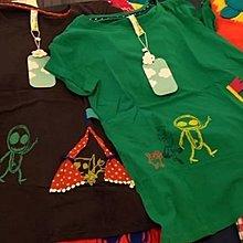 只有一件【無法三日內匯款者勿下標】a la sha 阿財家族一起去露營短袖上衣 綠S(全新)